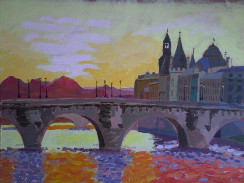 Pont Neuf bij zonsondergang (oktober 2012)
